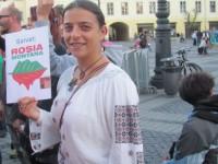 100 de sibieni au protestat