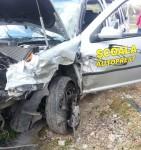 Accident la Botorca | Maşina şcolii de şoferi AutoPrest Mediaş a ajuns în şanţ