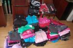 Îmbrăcăminte, încălţăminte şi aparate electronice contrafăcute confiscate la Mediaş | VEZI amănute