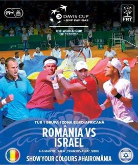Vezi programul Cupei Davis, Romania-Israel, 6-8 martie