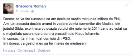 demisie gheorghe roman