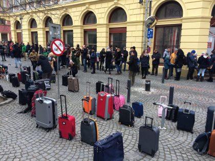 Protest la PSD Sibiu