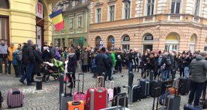 Ample proteste în faţa PSD Sibiu