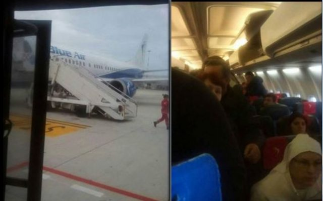 aterizare urgenta avion blue air