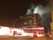 INCENDIU azi noapte la o clădire în construcție din Sibiu