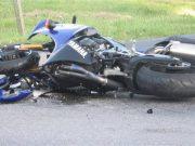 motociclist răsturnat la șura mică