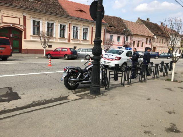 motociclist lovit la cisnadie