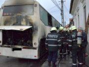 muncitori și pasageri arși în autobuz Mureș