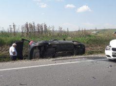 Accident pe DN 14 sâmbătă după amiaza, ieșirea din Sibiu spre Mediaș. Două fetițe rănite, au fost transportate la spital.