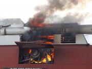 Incendiu la o combină