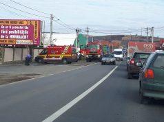 incendiu camion Șura Mare în județul Sibiu