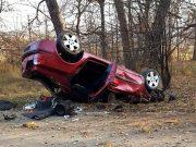 S-a răsturnat cu mașina din cauza vitezei